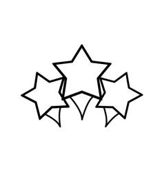 Stars decoration geometric sign vector