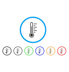 temperature rounded icon vector image