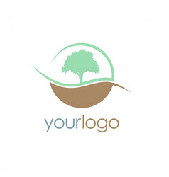 tree nature logo vector image