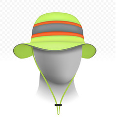 unisex reflective sun hat isolated on transparent vector image vector image