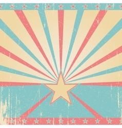 Vintage blue poster background vector image
