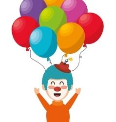 Clown balloons festival funfair funny design vector