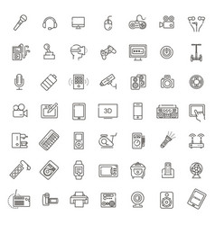 Set of smart devices and gadgets computer vector