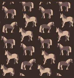seamless pattern of beautiful prancing horses in vector image