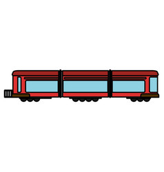 Train wagon rail transport vector