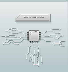 Circuit board background technology vector