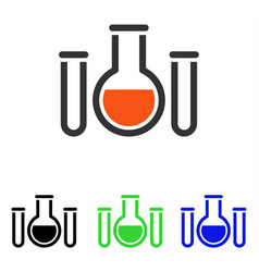 Chemical vessels flat icon vector