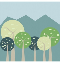 pastel forest vector image