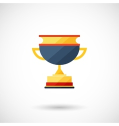 symbol of a cup of the winner with a shadow vector image