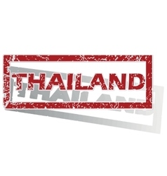 Thailand outlined stamp vector