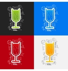 Drawing business formulas cocktail vector
