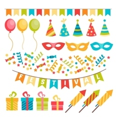 Colorful decoration for party vector