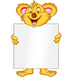 koala with blank sign vector image