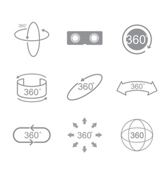 360 degrees view sign icon vector