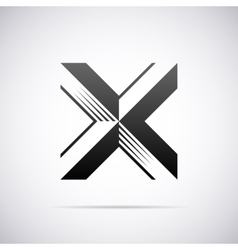 Logo for letter x design template vector
