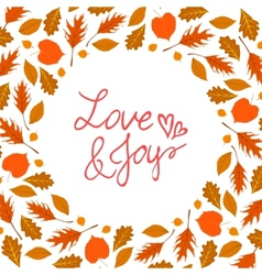 background with autumn decor vector image vector image