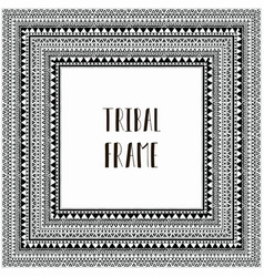 black abstract tribal frame vector image