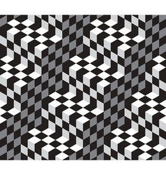 Black White Abstract Geometric Seamless Pattern vector image vector image