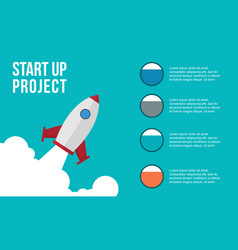 Business infographic step concept colorful vector