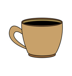 Coffee cup beverage drink break office icon vector
