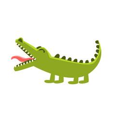 Crocodile burping cartoon character and his vector