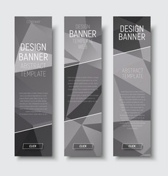 Design of vertical web banners template abstract vector
