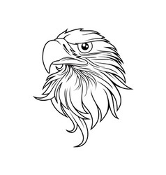 eagle head logo template vector image