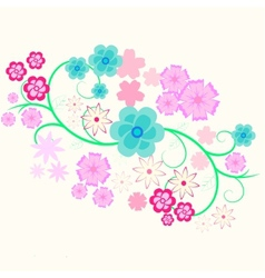 element of flower curl vector image vector image