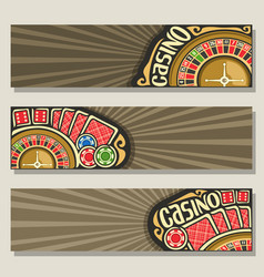 Gamble banners for casino vector