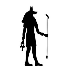 god anubis egypt egyptian silhouette ancient egypt vector image