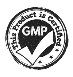 good manufacturing practice gmp sign or stamp vector image