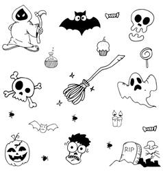 Halloween character ghost vector