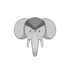 Indian elephant icon black monochrome style vector