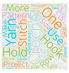 Learn to crochet text background wordcloud concept vector