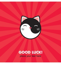 Lucky cat card vector