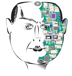 mind vector image