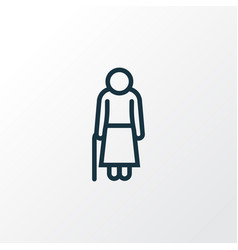 Old outline symbol premium quality isolated woman vector
