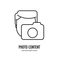 Photo content icon vector