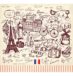 Postcard from Paris vector image vector image