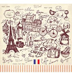 Postcard from paris vector