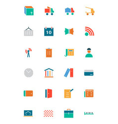 Real estate flat icons 5 vector