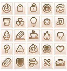 Retro Colored Icon vector image vector image