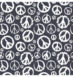 Retro Peace symbol seamless vector image