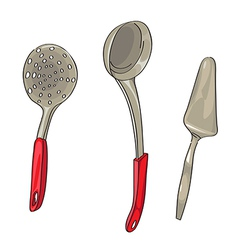 serving ladles vector image vector image