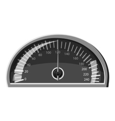 Speedometer 120 km in hour icon vector image