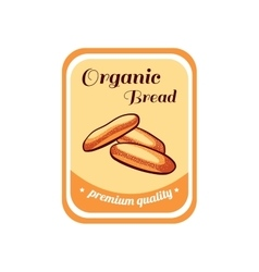 Sticker organic bread vector