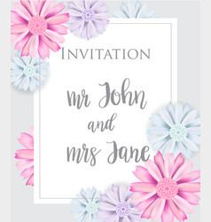 stylish elegant wedding invitation card vector image