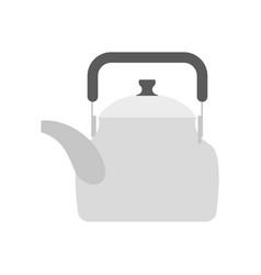 Teapot isolated kitchen utensils crockery on vector