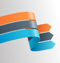 Three infographic elements ribbons arrows on vector