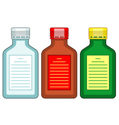 Tinted glass bottles vector